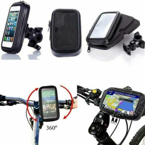 360° Bicycle Motor Bike Waterproof Phone Case Mount Holder For All Phones 1 Pc