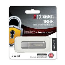 Kingston DataTraveler Locker+ G3 16GB USB 3.0 Hardware Encrypted Flash Drive 16G
