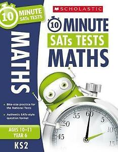 Maths-Year-6-10-Minute-SATS-Tests-by-Handley-Tim-Paperback-Book-New-FREE