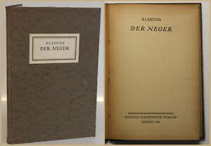 Klabund el 1920 negros primera edición caminos principales 38. expressionistische literatura SF
