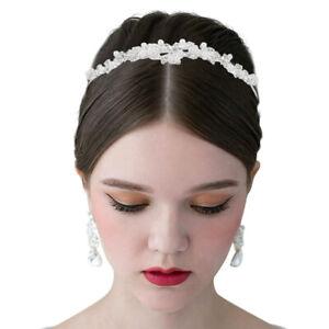 New-Fashion-Crystal-Rhinestones-Flower-Tiara-Pearl-Headband-Bridal-Wedding-Crown