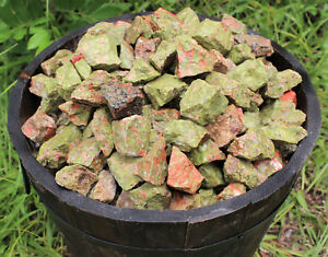 1/4 lb Bulk Lot Natural Rough UNAKITE (Raw Gemstone Crystal Rock Tumbling 4 oz)