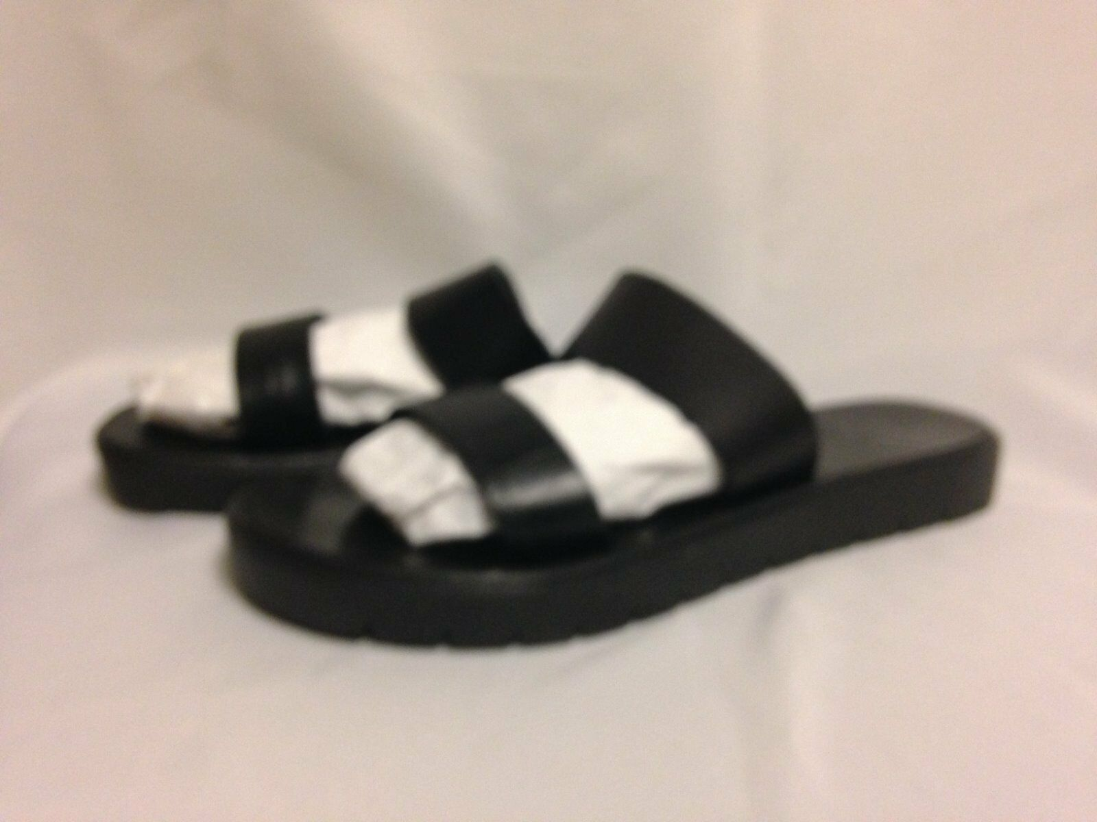 Joie A La Plage Plage Plage Tulum Double Strap Sandal 36.5  6.5M Black Leather  New with Box 116a78
