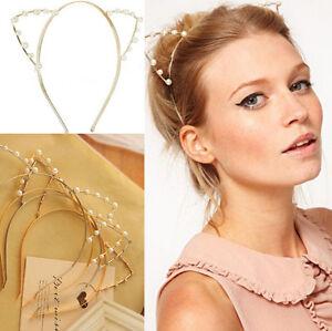 Women-Cat-Ears-Faux-Rhinestones-Alloy-Headband-Fashion-Girls-Hair-Band-Giftfj