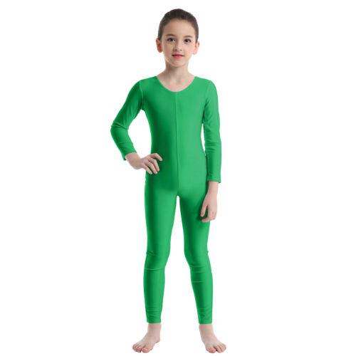 Girls Long Sleeves Ballet Leotards Dancewear Gymnastics Jumpsuit Catsuit Costume