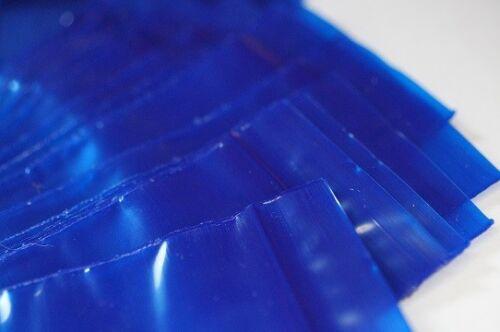 500 Pièces Zip Pe Sac 40x60mm Bleu 50µ pression fermeture sachet Zipper Sachets numérotés