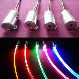 3 10mm 1 5w dc 12v car home light side glow fiber optic light source