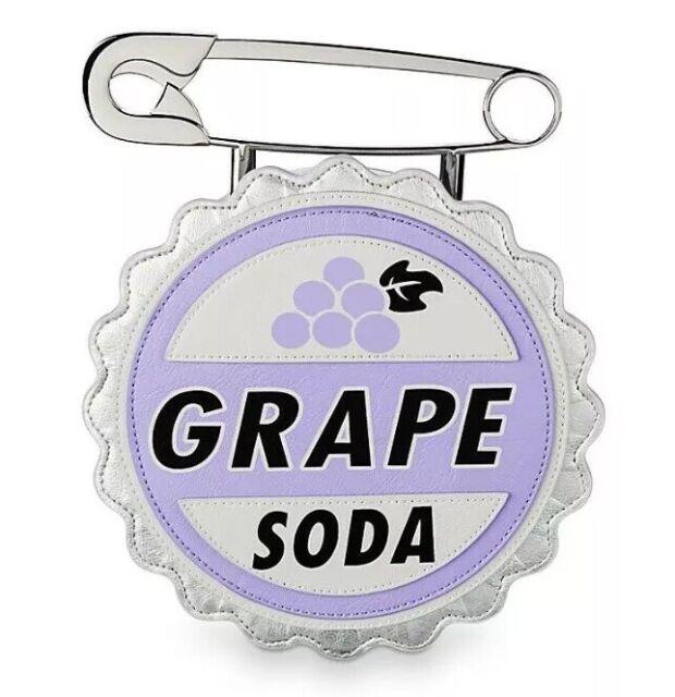 "Disney Parks Pixar ""Up"" Grape Soda Bottle Cap Crossbody"