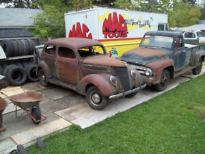PAIR - 1937 FORD TUDOR SEDANS - PROJECTS