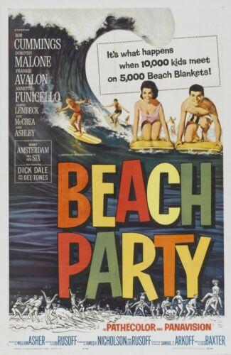 BEACH PARTY B-MOVIE REPRODUCTION ART PRINT A4 A3 A2 A1