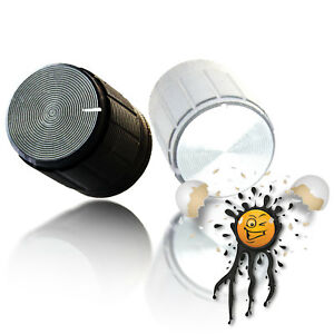 Alu Potentiometer 6/13 mm Ø Drehknopf Stellknopf rotary knob button silver black