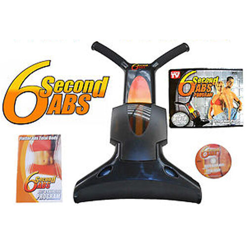 6 SECOND ABS EXERCISER SIX PACK CRUNCH TONING STOMACH EXERCISE MACHINE AB NEW