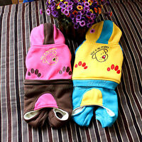 Pet Puppy Dog Clothes Clothing Hooded Coat Size S-m-l-xl +1 Tie Same Color