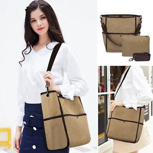 Womens-Canvas-Handbag-Shoulder-Bucket-Large-Capacity-Tote-Travel-Messenger-Bag