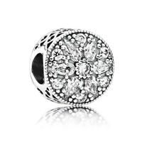 Authentic Pandora Charm 791762cz Radiant Bloom Crystal Box Included