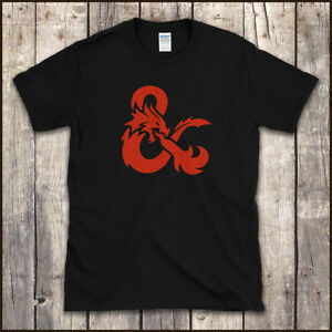 Retro-DUNGEONS-AND-DRAGONS-Logo-D-amp-D-RPG-T-SHIRT-Sizes-to-5XL