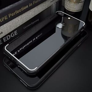 huge selection of db6bd d5dfc Details about Jet Black UltraThin Slim Crystal Clear Case Mirror Soft Cover  For iPhone7/8 Plus