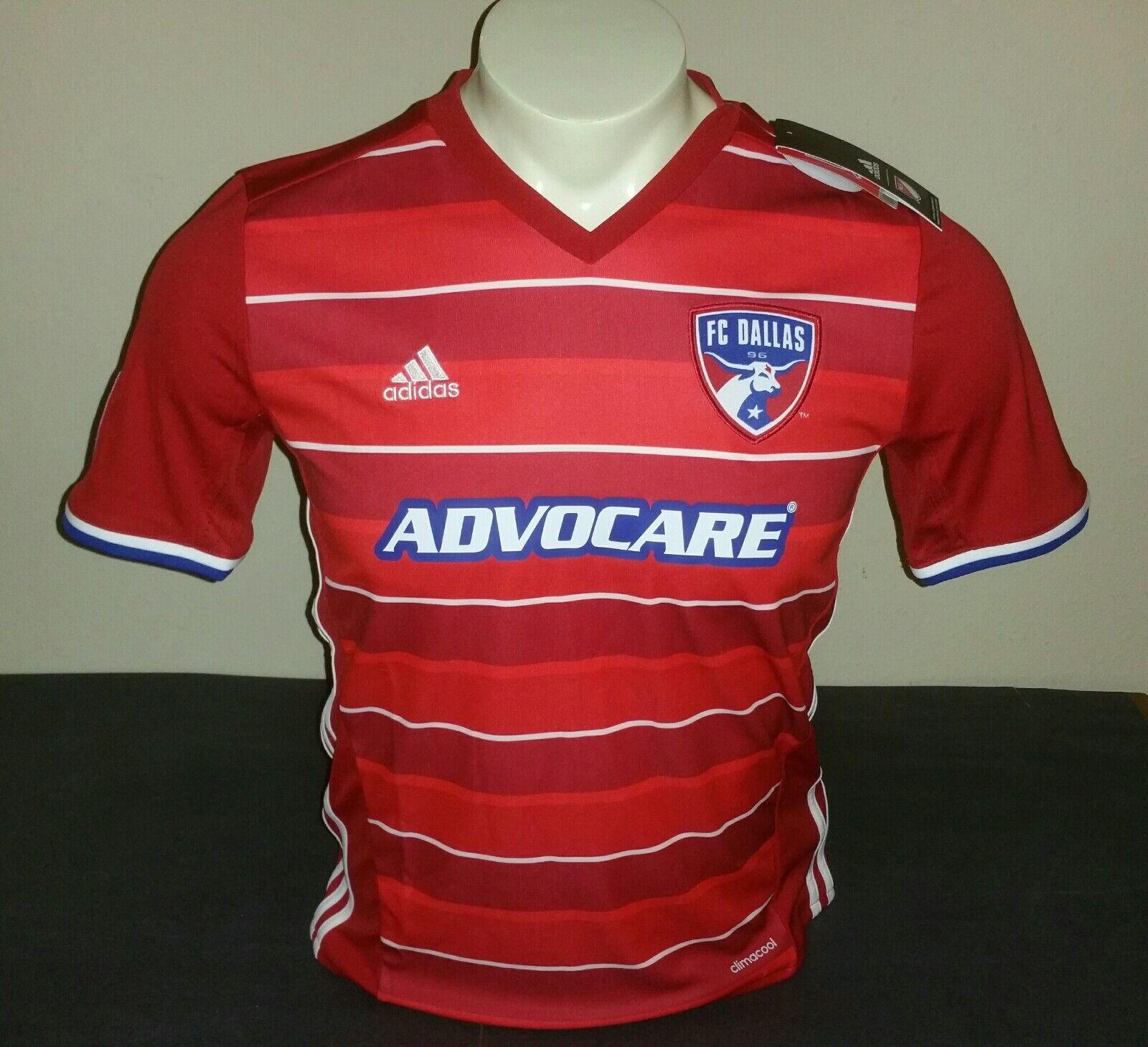 cab0bfc7c3f Adidas Youth FC Dallas Dallas Dallas Home Jersey 15 16, Red blueee White,  Size YL fcbede