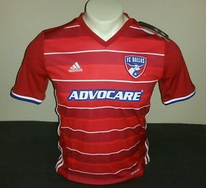 Adidas Youth FC Dallas Home Jersey 15/16, Red/Blue/White, Size YL ...