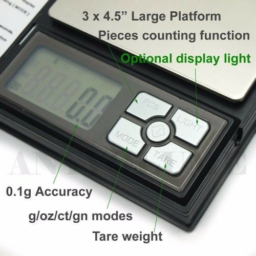 New 0.1g/2000g Digital Weighing Scale- 2kg electronic jewellery scale at R250 each