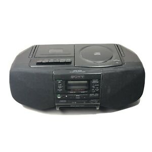 Sony CFD-S33 AM/FM Radio CD Cassette Player Mega Bass Portable Boombox TESTED
