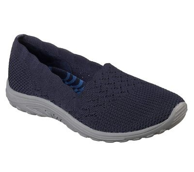 Comfort Shoes Women's Shoes Imported From Abroad Skechers Damen Reggae Fest-trail Dame 49182 Marineblau Memory Foam Brandneu