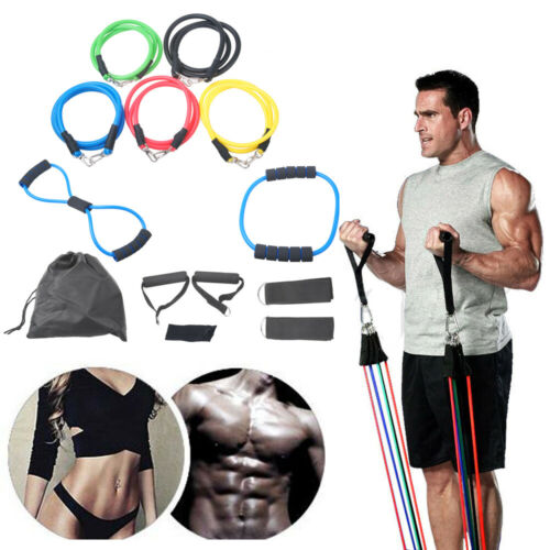 Widerstandsbänder Fitnessbänder Gymnastikband Resistancebands Yoga 13tlg Set