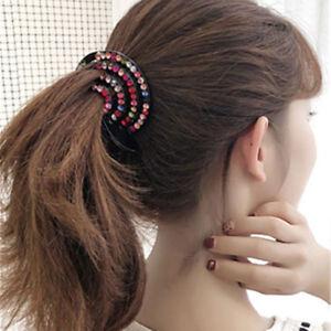 Fashion-Ladies-Girls-Hair-Clip-Nest-Rhinestone-Hairpin-Hair-Claw-Ponytail-Holder
