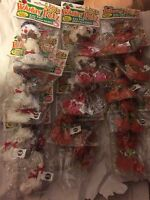 Lot Of 16 Cat Holiday Christmas & Animal Toys Santa Snowman Reindeer Teasers