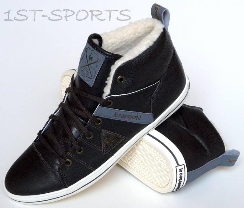 Le Coq scarpe, Sportif Scarpe da ginnastica, scarpe, Coq da uomo Temple Mid in Pelle a 10 Marrone 457808