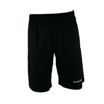 "CCM Hockey /""Tacks/"" S//S Stretch Limo Black Shirt-Size Senior//Adult"