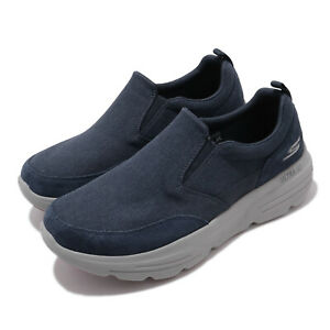 Skechers-Go-Walk-Duro-Navy-Grey-Men-Slip-On-Casual-Loafers-Shoes-216008-NVGY