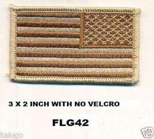 USA REVERSE FLAG DESERT PATCH - FLG42