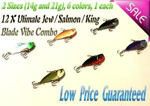 12X-14g-and-21g-Fishing-Switchblade-Ultimate-Combo-Metal-VIB-Lures-Jew-Salmon