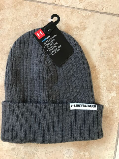 9efd05fc3ae Under Armour GRAY KNIT Cold Gear Beanie One Size Fits Most Women s NWT