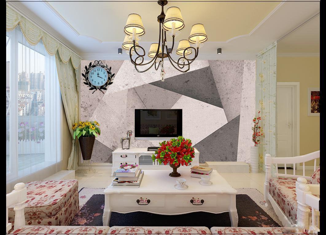 3D grey - whiteen Raum 049 Fototapeten Wandbild Fototapete BildTapete Familie DE