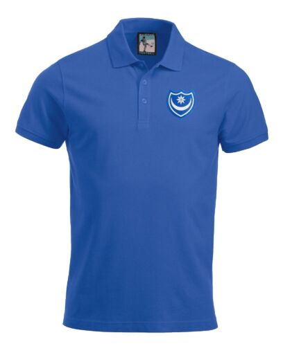 Portsmouth années 1960 Football Polo Tailles S-XXXL Logo Brodé