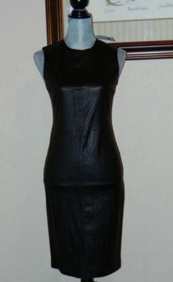 Vince. Leather Shift Dress -- size 4
