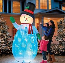 8' Kaleidoscope W/Dancing Light Snowman Inflatable Outdoor Christmas Yard Decor