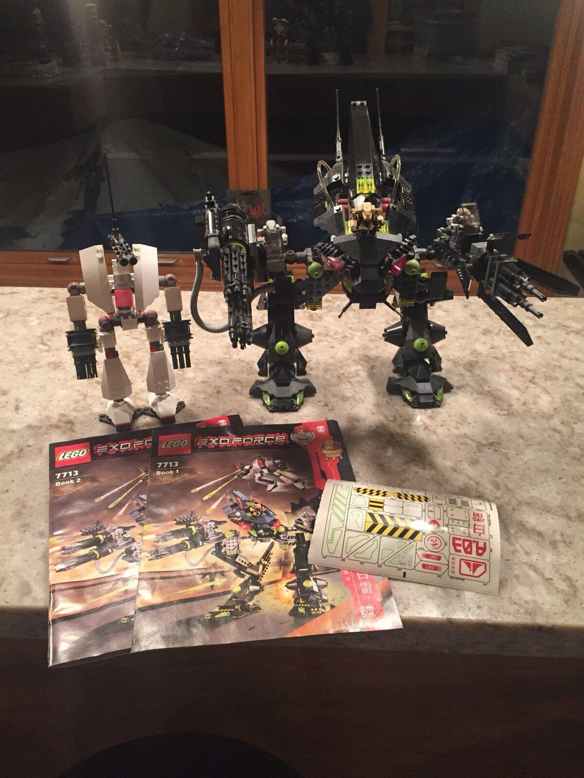 LEGO Exo-Force Robots Bridge Walker and Weiß Lightning (7713)