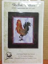 RUFFLED FEATHERS ROOSTER QUILT QUILTING PATTERN, From Cotton Tales Patterns NEW