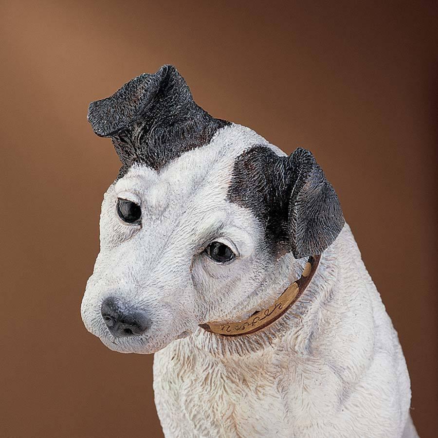 Liverpool Inglaterra Pinza la RCA Perro Estatua Escultura Pintada A Mano Coleccionable