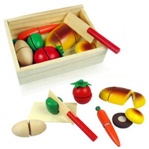 8PCS-Wooden-Kids-Cut-Up-Pretend-Play-Kitchen-Toy-Food-Cutting-Bread-Vegetable-AF