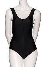 Plus Size Larger Ladies Lycra Leotard Short Sleeve Plain Front #SIMONE