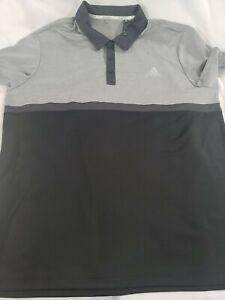 Adidas-Charcoal-Golf-Short-Sleeve-Shirt-ClimaCool-Mens-Size-XL