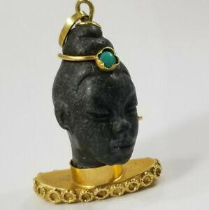 Vintage-18K-Gold-BLACKAMOOR-Charm-Pendant-Italian