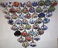 20 Mixed Multicolor Door Ceramic Pottery Knobs Knob Drawer Handles Puller Pulls