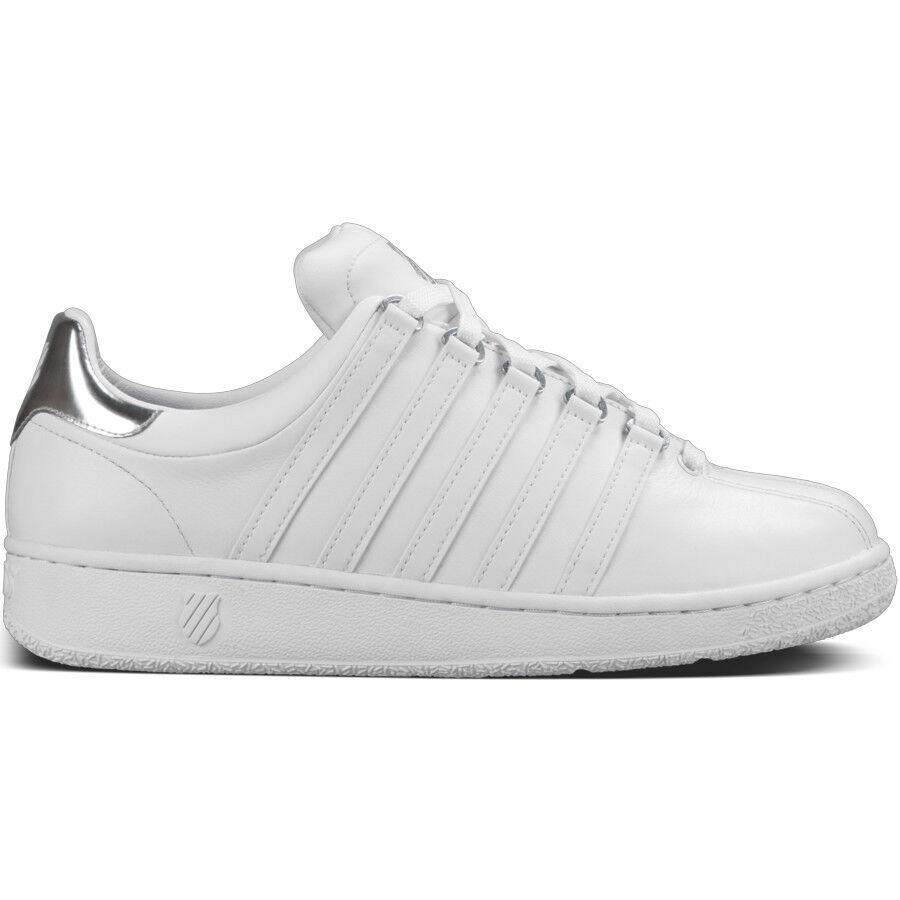 K VN SWISS CLASSIC VN K  Herren Trainers Sneakers UK 11 Eur 46 Weiß /Metal Silver BNIB 54049b
