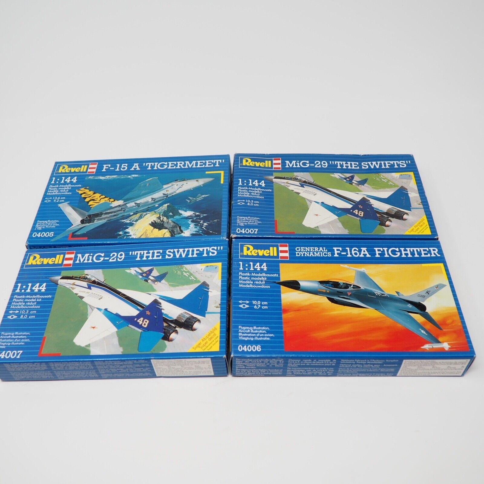 4x Revell 1 144 MiG 29  The Swifts  F16A Fighter F15A Tigermeet