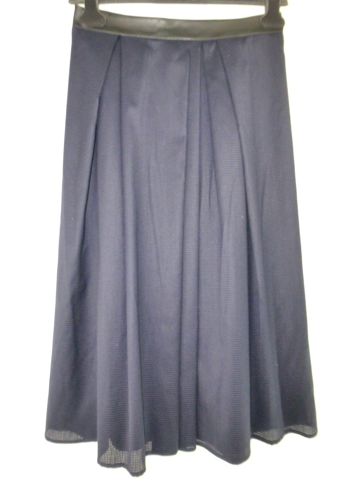 Iheart Ladies Skirt Nikita S 36 A-Shape bluee Faux Leather Waistband